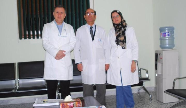 دكتور مصطفى ودكتور امين ودكتوره سنيه